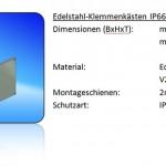 Edelstahl Klemmkasten IP66